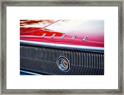 1966 Dodge Charger Grille Emblem Framed Print