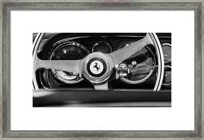 1966 Ferrari 330 Gtc Steering Wheel Emblem  Framed Print