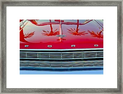 1966 Ford Galaxie 500 Convertible Grille Framed Print