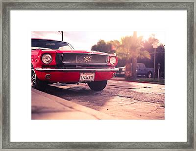 1966 Ford Mustang Convertible Framed Print by Gianfranco Weiss