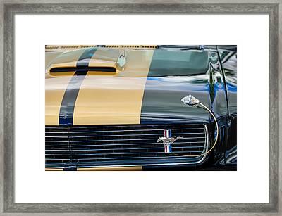 1966 Ford Mustang Grille Emblem -0947c Framed Print