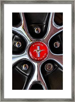 1966 Ford Mustang Gt Wheel Emblem Framed Print