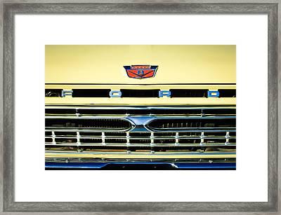 1966 Ford Pickup Truck Grille Emblem Framed Print