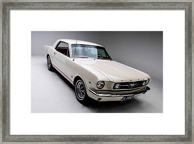 Framed Print featuring the photograph 1966 Gt Mustang by Gianfranco Weiss