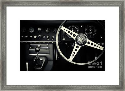 1966 Jaguar E Type Interior  Framed Print