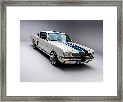 Framed Print featuring the photograph 1966 Mustang Gt350 by Gianfranco Weiss