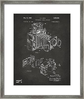1966 Photographic Camera Accessory Patent Gray Framed Print by Nikki Marie Smith