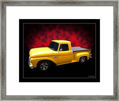 Framed Print featuring the photograph 1966 Pickup by Keith Hawley