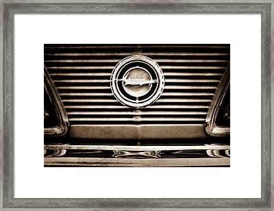 1966 Plymouth Barracuda - Cuda - Emblem Framed Print