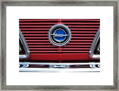 1966 Plymouth Barracuda - Cuda Grille Emblem Framed Print by Jill Reger