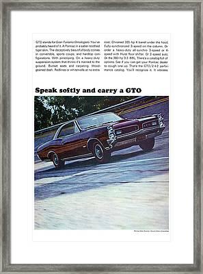 1966 Pontiac Gto Framed Print by Digital Repro Depot