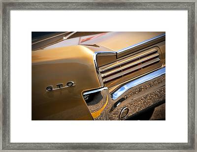 1966 Pontiac Gto Tail Framed Print by Gordon Dean II