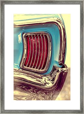 1966 Pontiac Tempest Taillight Framed Print by Henry Kowalski