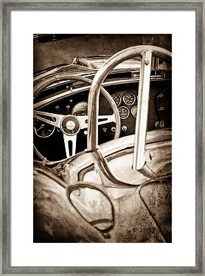 1966 Shelby 427 Cobra Steering Wheel Emblem Framed Print
