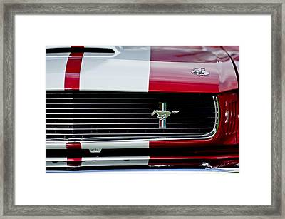 1966 Shelby Cobra Gt 350 Grille Emblem Framed Print by Jill Reger