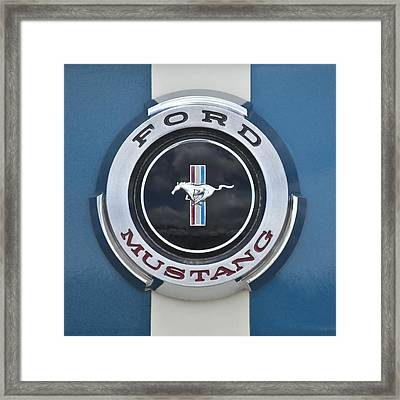 1966 Shelby Gt 350 Emblem Gas Cap Framed Print by Jill Reger