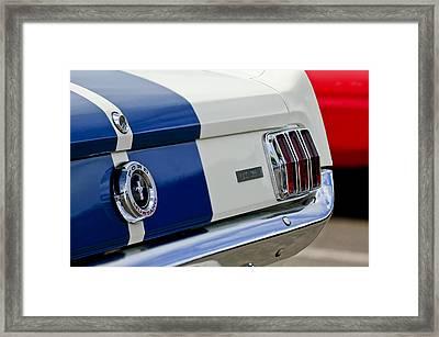 1966 Shelby Gt 350 Taillight Framed Print