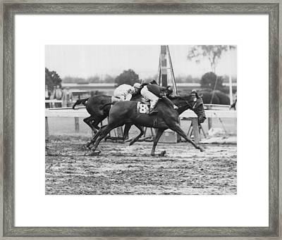 1966 Vintage Horse Racing Framed Print by Retro Images Archive