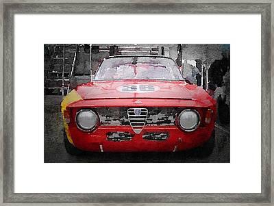 1967 Alfa Romeo Gtv Watercolor Framed Print by Naxart Studio