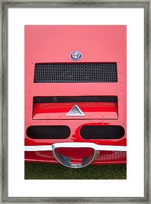 1967 Alfa Romeo Tz2 Zagato Coupe Hood Ornament Framed Print by Jill Reger