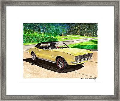 1967 Camaro Rs Art Framed Print by Jack Pumphrey