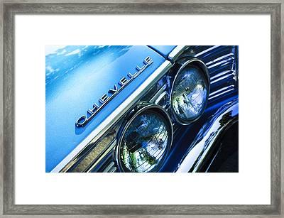 1967 Chevrolet Chevelle Malibu Head Light Emblem Framed Print by Jill Reger