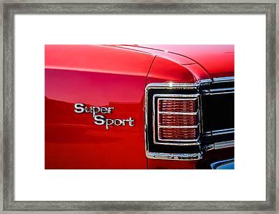 1967 Chevrolet Chevelle Ss Taillight Emblem -0459c Framed Print