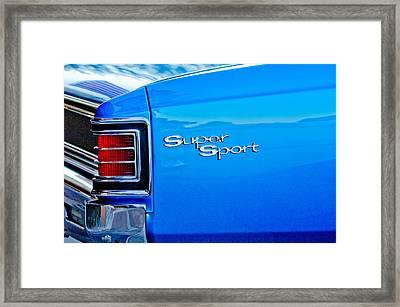 1967 Chevrolet Chevelle Taillight Emblem Framed Print by Jill Reger