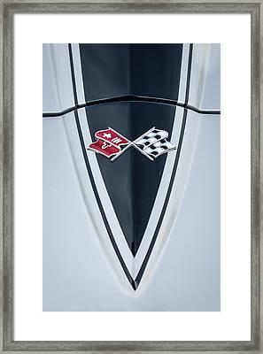 1967 Chevrolet Corvette Coupe Hood Emblem Framed Print by Jill Reger