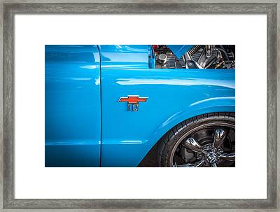 1967 Chevy Siverado Truck Painted Framed Print