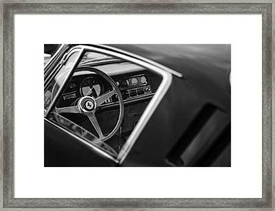 1967 Ferrari 275 Gtb-4 Berlinetta Steering Wheel Framed Print