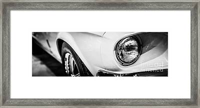 1967 Ford Mustang Shelby Gt350 Panorama Photo Framed Print