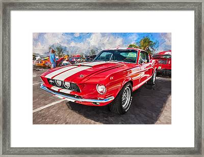 1967 Ford Shelby Mustang Gt500 Painted  Framed Print by Rich Franco