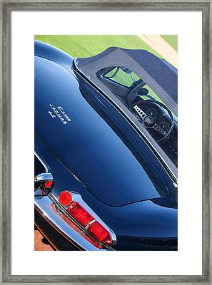 1967 Jaguar E-type Roadster Taillight -1228c Framed Print by Jill Reger