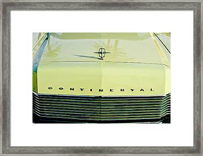 1967 Lincoln Continental Grille Emblem - Hood Ornament Framed Print
