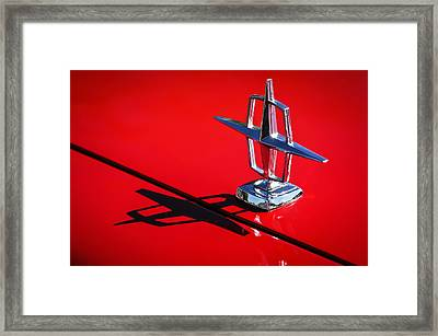 1967 Lincoln Continental Hood Ornament -1204c Framed Print