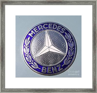 1967 Mercedes Benz Logo Framed Print by John Telfer