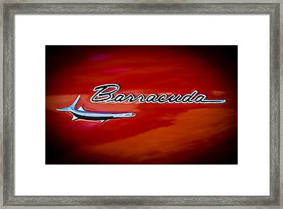 1967 Plymouth Barracuda Emblem Framed Print