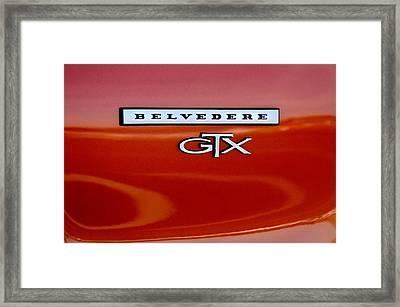 1967 Plymouth Gtx Belvedere Emblem Framed Print