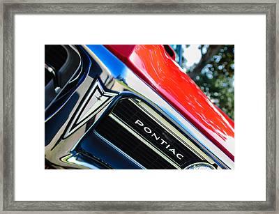 1967 Pontiac Firebird Grille Emblem Framed Print