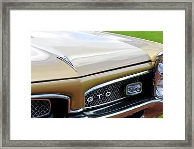 1967 Pontiac Gto Grille Emblem 2 Framed Print by Jill Reger