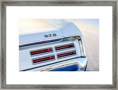 1967 Pontiac Gto  Taillight Emblem Framed Print by Jill Reger