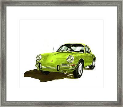 Porsche 911 Sportscar Framed Print by Jack Pumphrey