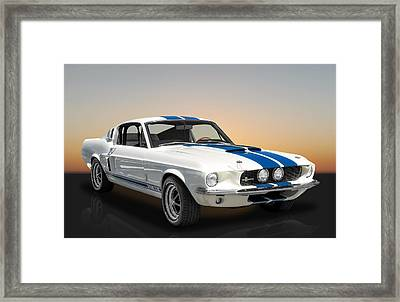 1967 Shelby Mustang Gt-350 With A Paxton Supercharger Framed Print