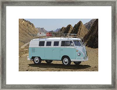 1967 Vw Bus Framed Print by Mike McGlothlen