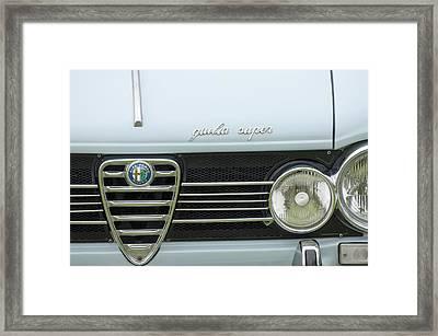 1968 Alfa Romeo Giulia Super Grille Framed Print by Jill Reger
