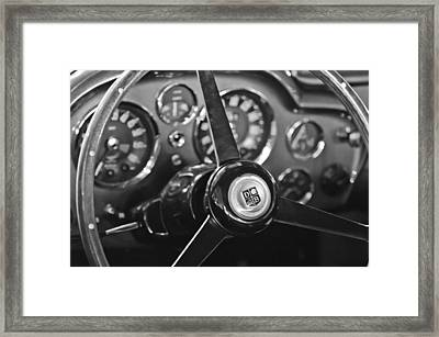 1968 Aston Martin Steering Wheel Emblem Framed Print by Jill Reger