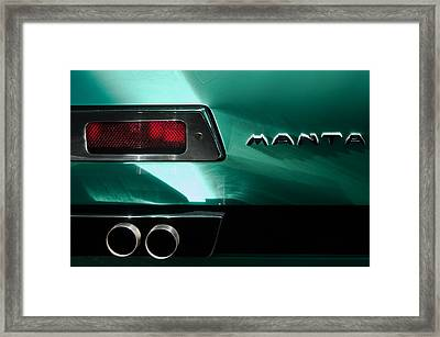 1968 Bizzarrini Manta Taillight Emblem Framed Print
