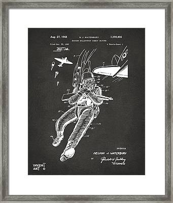 1968 Bulletproof Patent Artwork Figure 14 Gray Framed Print by Nikki Marie Smith
