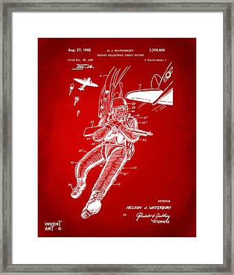 1968 Bulletproof Patent Artwork Figure 14 Red Framed Print by Nikki Marie Smith